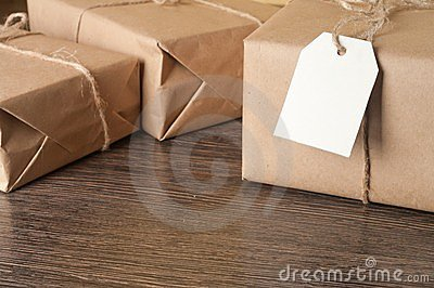 Pile parcel wrapped