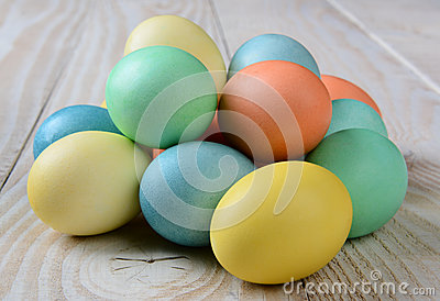 Pile of Pastel Easter Eggs