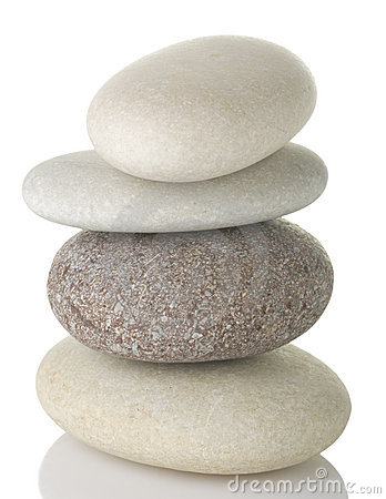 Pile of pebble stone