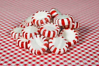 striped hard candy peppermints