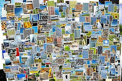 Pile of photos background