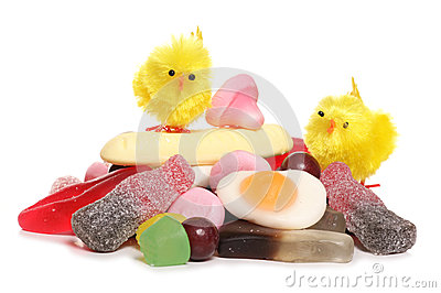 Pile of pick and mix for easter