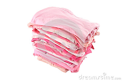 Pile of pink shade cloths