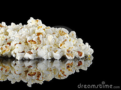 Pile of Popcorn on Black
