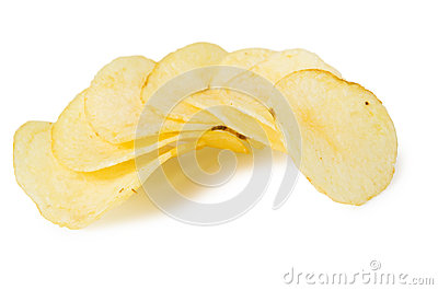 Pile of potato chips