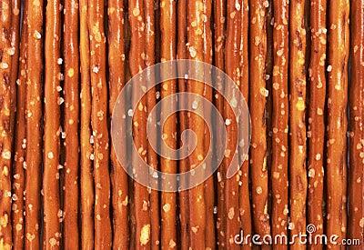 Pile of pretzel sticks