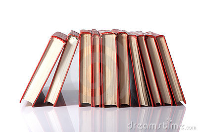 Pile of red books