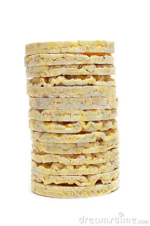 A pile of rice cakes