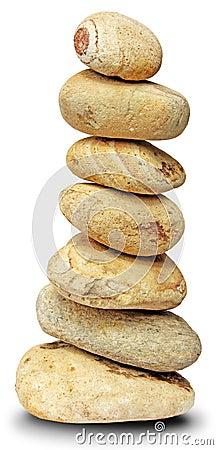 Pile rocks