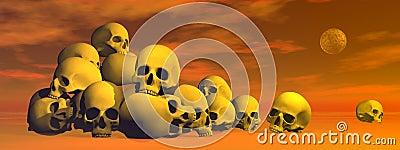 Pile of skulls - 3D render