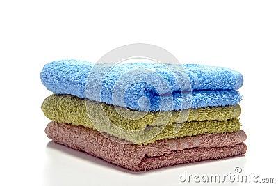 Pile of Soft Cotton Bath Towels