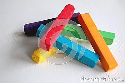 Pile of Soft Pastel Sticks