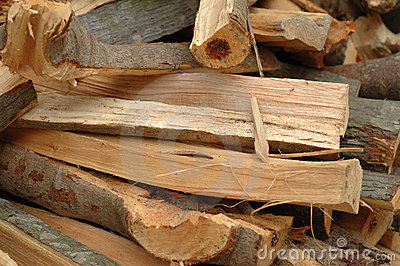 Pile of split firewood