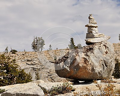 Pile of stones in Yosemite National Park