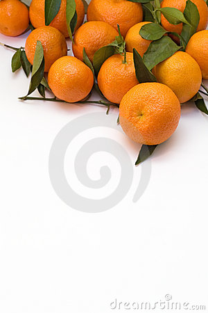 A pile of tangerine branches