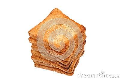 Pile of toast bread