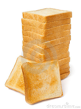 Pile of toasts