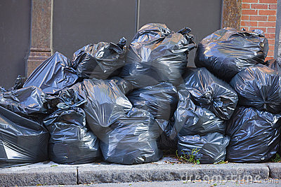 Pile Of Trash Bags Royalty Free Stock Photos Image 12122718