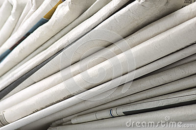 Pile of Various newspapers