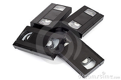 Pile of video cassettes