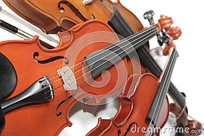 Pile of violins