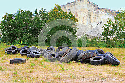 Pile of wheels