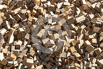 Pile of wood cuttings
