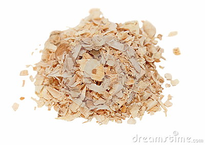 Pile wood shavings background