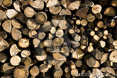 Pile of wood texture
