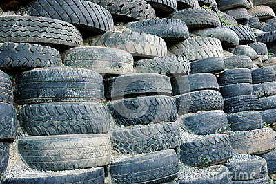 Piles of old tires