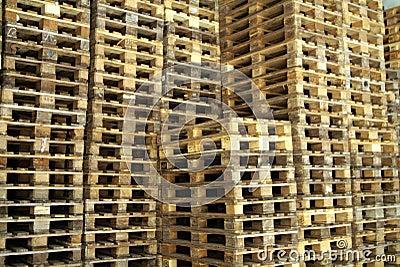 Piles of pallet wood