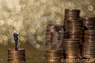 Piles of pennies