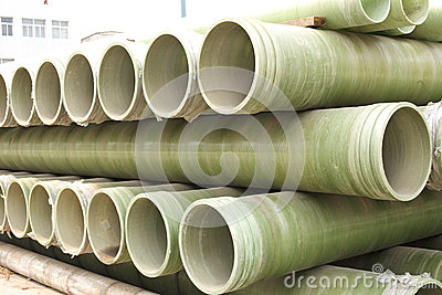 Piles of pipes for delivery