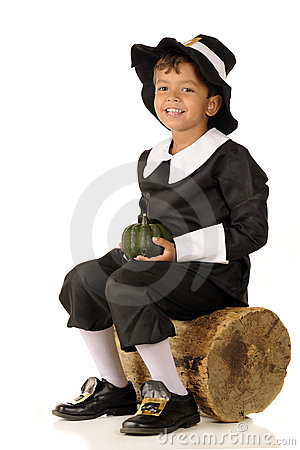 Pilgrim Boy with Squash