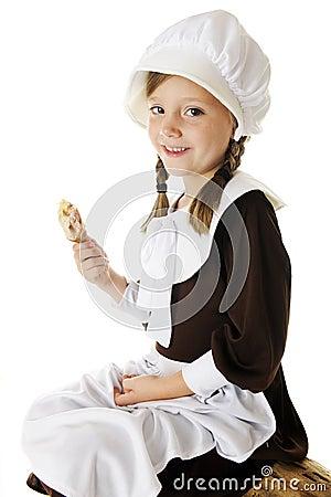 Pilgrim Enjoys Drumstick
