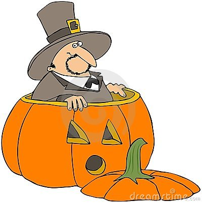 Pilgrim In A Pumpkin