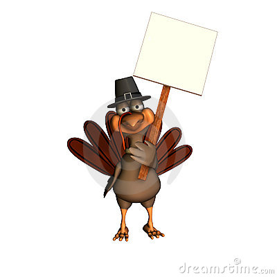 Pilgrim Turkey with Sign 2