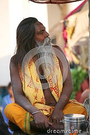 A pilgrim, Vanarasi,India Editorial Photography