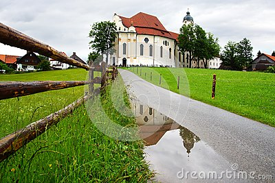 Pilgrimage Church Wieskirche in Wies, Germany