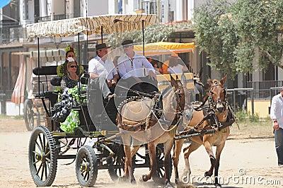 Pilgrimage of el Rocio, Spain Editorial Stock Image