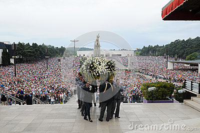 May Pilgrimage - Catholic Faith - Religion - Crowd Editorial Photography