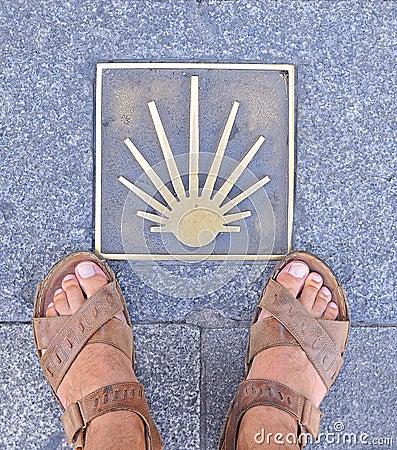 Free Pilgrimage To Santiago. Royalty Free Stock Photo - 26012625