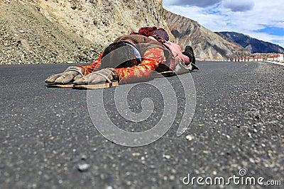 Pilgrimage to Tibet Editorial Stock Photo