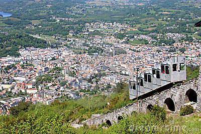 The pilgrimage town of Lourdes from the Pic du Jer