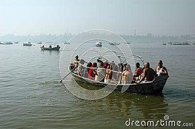 Pilgrims at Allahabad Editorial Image
