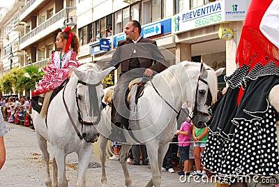 Pilgrims  to of El Rocio Editorial Photo