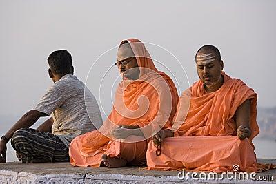 Pilgrims at Varanasi - India Editorial Stock Photo