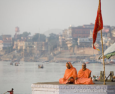 Pilgrims - Varanasi - India Editorial Photo