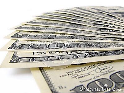 Pilha de contas de $ 100