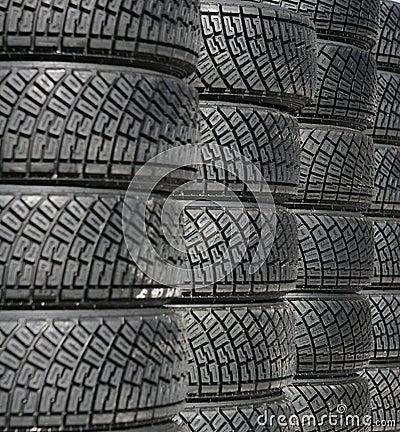 Pilha do pneu